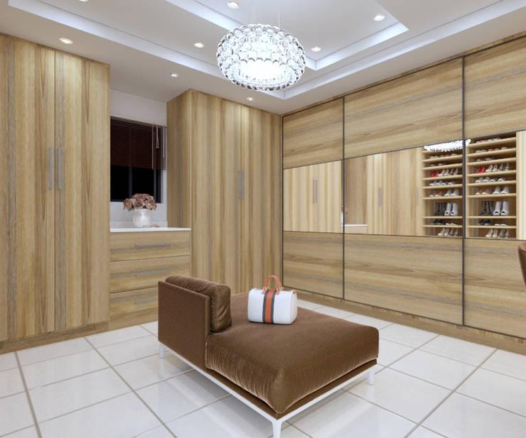 Walk in closet view 3:   by Linken Designs