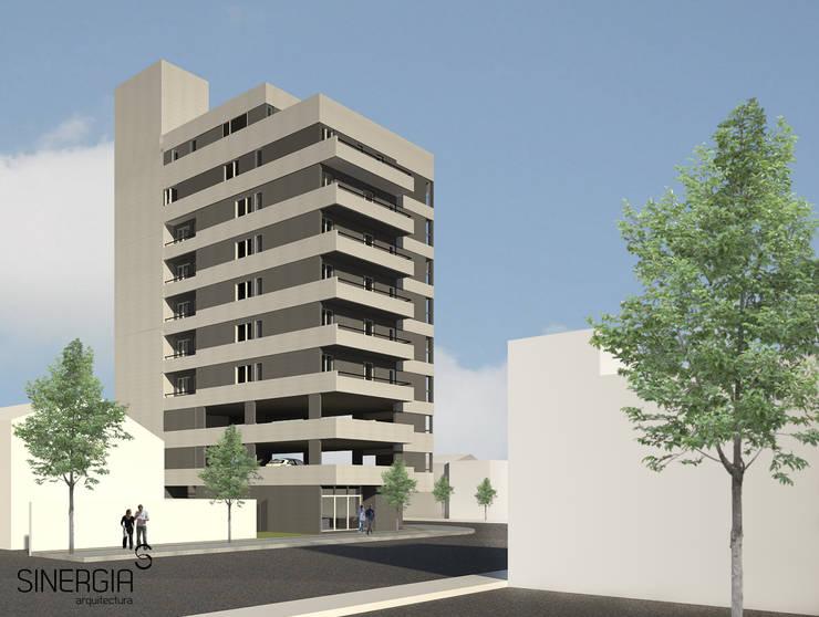 Edificio Neuquen capital: Condominios de estilo  por SINERGIA ARQUITECTURA,