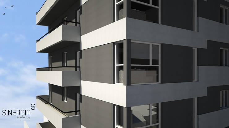 Esquina Detallle  Edificio: Condominios de estilo  por SINERGIA ARQUITECTURA,