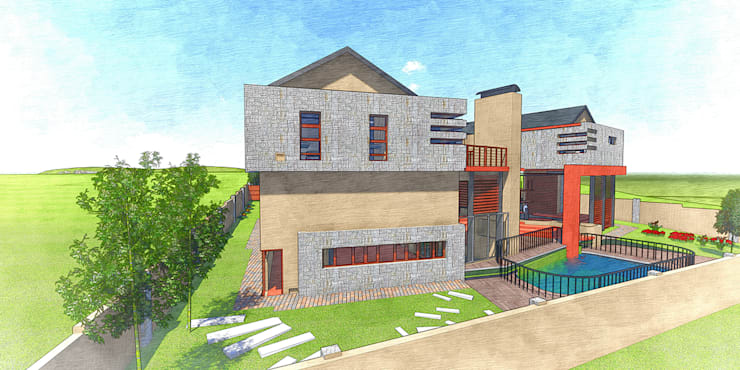 House Ramela:  Houses by TOP CENTRE PROPERTIES GROUP (PTY) LTD
