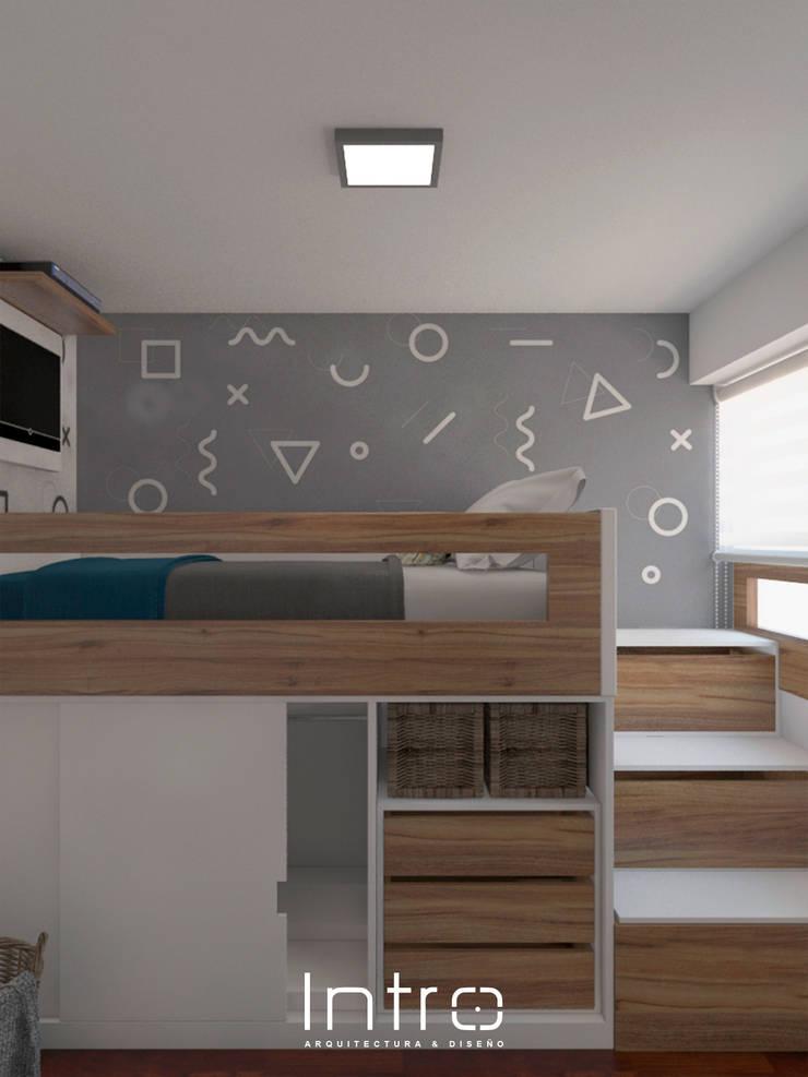 Diseño de Dormitorio para Niño: Cuartos para niños de estilo  por Intro Design Perú ,
