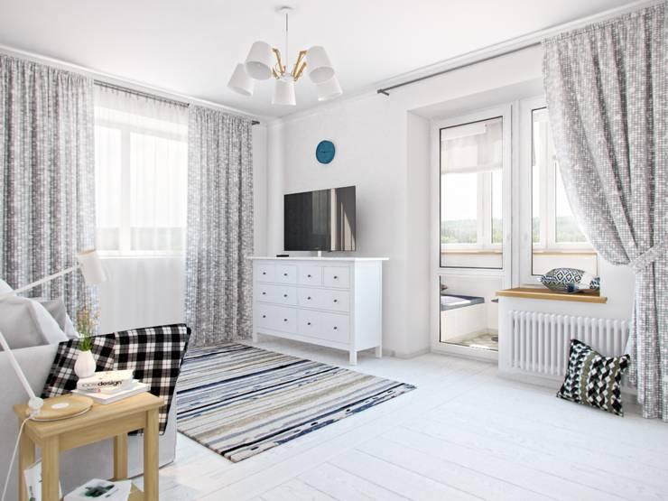 Дизайн двухкомнатной квартиры в скандинавском стиле: Детская комната в . Автор – ЕвроДом