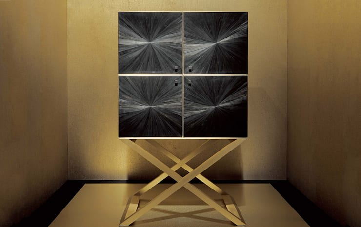 Armani Casa家具意大利品質,簡約時尚設計:  玄關、走廊與階梯 by 北京恒邦信大国际贸易有限公司