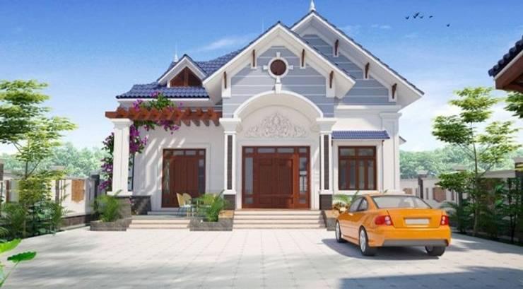 Tổng hợp những mẫu biệt thự 1 tầng đẹp:   by Kiến Trúc Xây Dựng Incocons