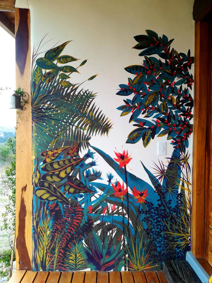 Murales de plantas: Arte de estilo  por Julieta Zyk Murales,