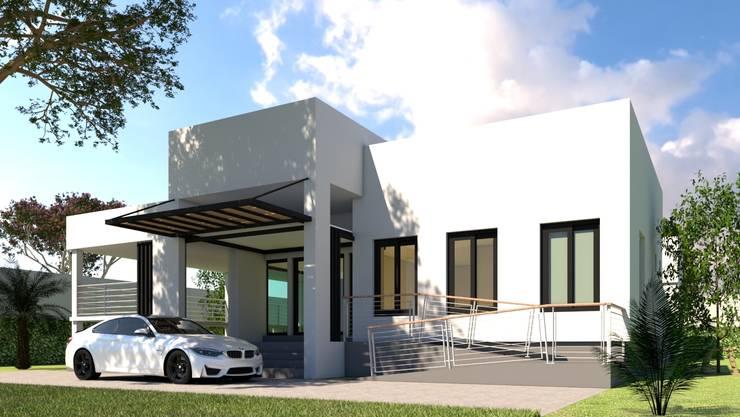 บ้านจำลอง 3D คุณช้าง:  บ้านและที่อยู่อาศัย by บริษัท พี นัมเบอร์วัน คอนสตรัคชั่น จำกัด