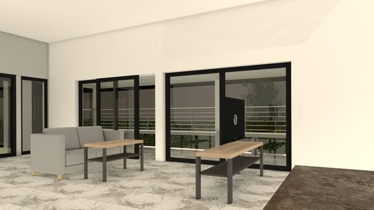 บ้านจำลอง 3D คุณช้าง:  ห้องนั่งเล่น by บริษัท พี นัมเบอร์วัน คอนสตรัคชั่น จำกัด
