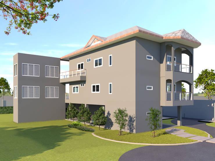 บ้านจำลอง 3D คุณตั้ม:  บ้านและที่อยู่อาศัย by บริษัท พี นัมเบอร์วัน คอนสตรัคชั่น จำกัด