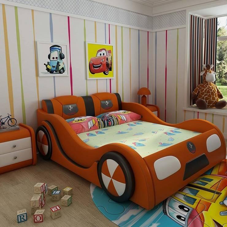 Mẫu Giường ô tô GTE101 màu cam:   by Xưởng nội thất Thanh Hải