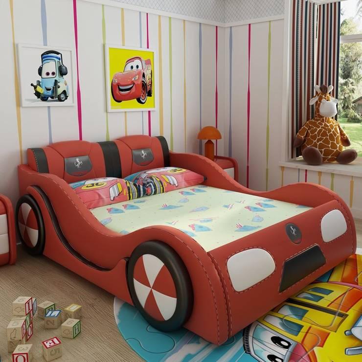 Mẫu Giường ô tô GTE101 màu đỏ:   by Xưởng nội thất Thanh Hải