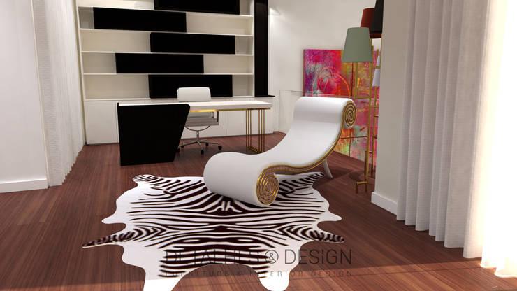 Projeto Design de Inteiores - Escritório:   por Detalhes & Design