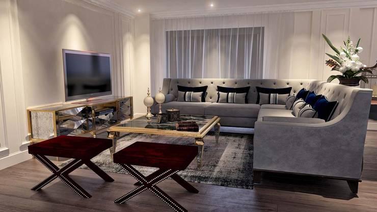 ANTE MİMARLIK  – Karadavut Villa:  tarz Oturma Odası