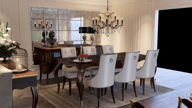 ANTE MİMARLIK  – Karadavut Villa:  tarz Yemek Odası