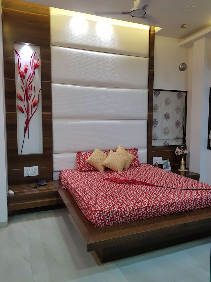 Chandaliya residence : modern Bedroom by Suvarna RESHA Architect  & Interior  Designer studio