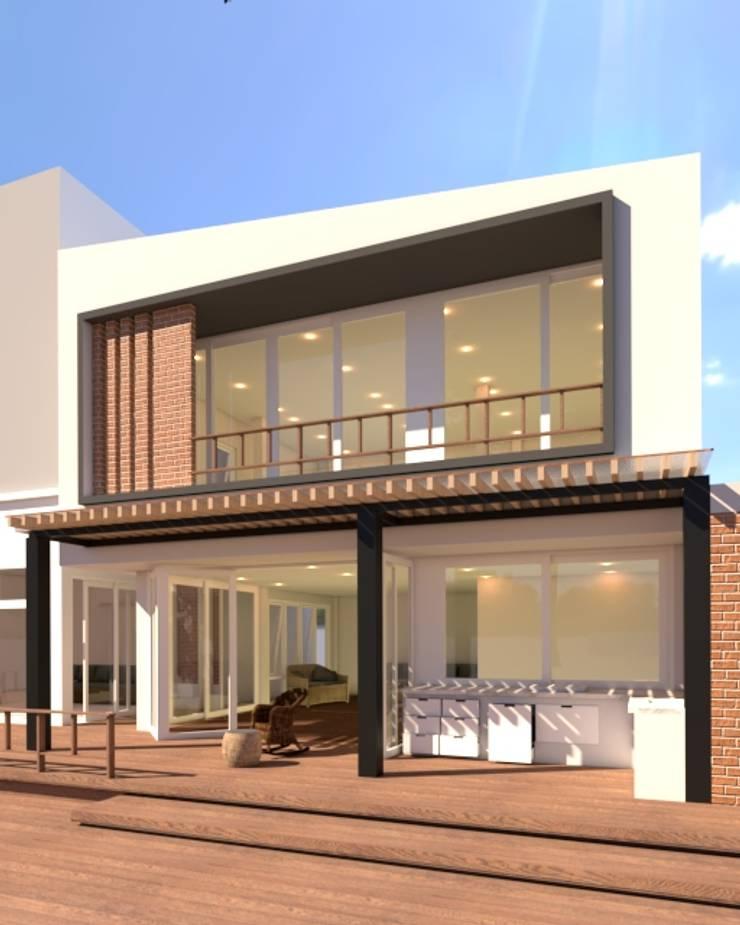 บ้านจำลอง 3D ตกแต่งบ้านหรู:  บ้านสำเร็จรูป by บริษัท พี นัมเบอร์วัน คอนสตรัคชั่น จำกัด