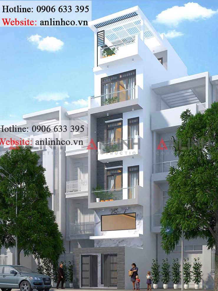 Mẫu nhà phố đẹp - Công trình CHUNG HUỆ NHAN:   by CÔNG TY THIẾT KẾ XÂY DỰNG AN LĨNH