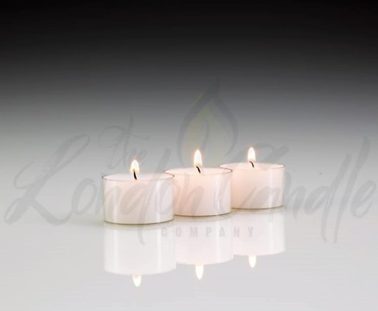 8 Hour Tea Lights Clear Cup Household By The London Candle Company