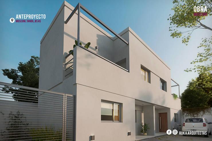 MOSCONI: Casas de estilo  por RUKA arquitectas,