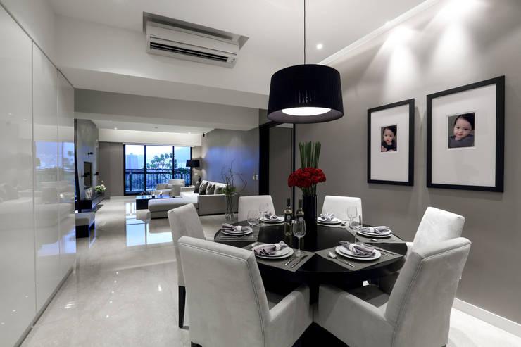 皇苑建設-人文首璽:  餐廳 by 雅群空間設計