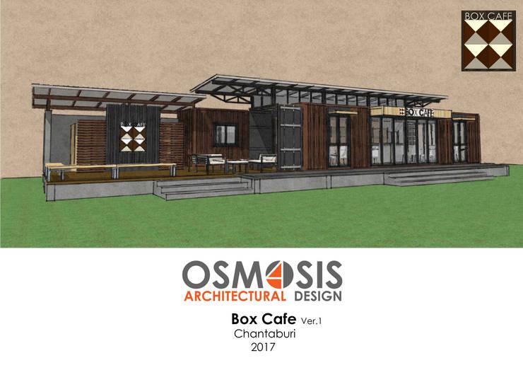 Box Cafe Ver.1:  บ้านสำเร็จรูป by OSMOSIS Architectural Design