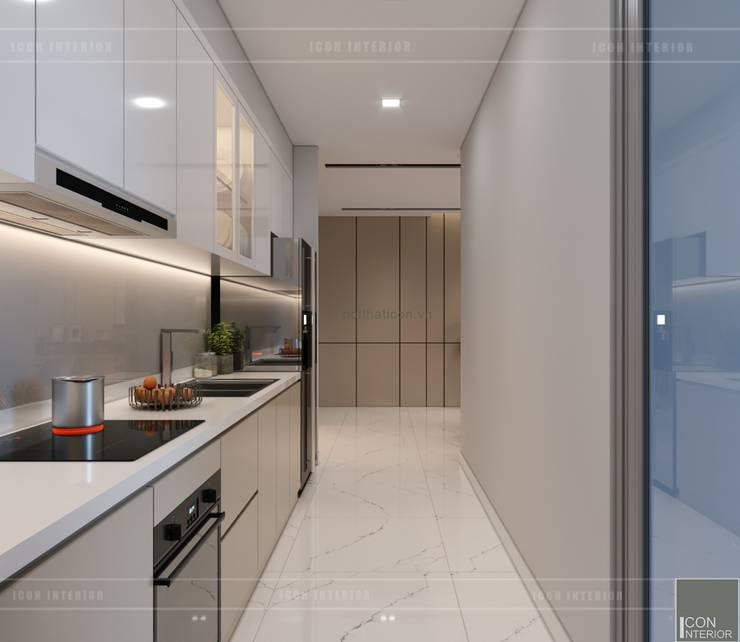 Thiết kế nội thất chung cư 2 phòng ngủ hiện đại:  Nhà bếp by ICON INTERIOR