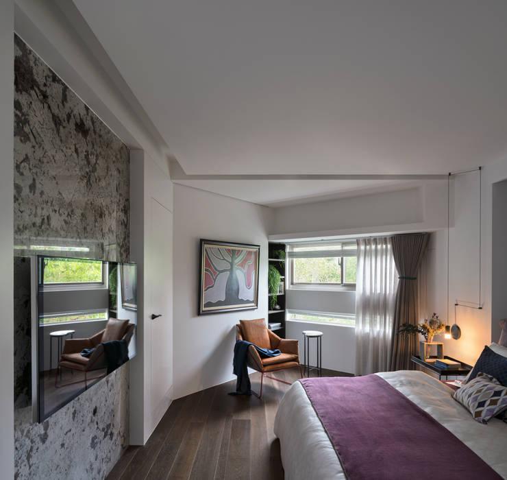 經典莫蘭迪:  臥室 by 雅群空間設計