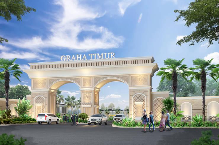 Gerbang Prumahan Graha Timur Purwokerto:   by Arsitekpedia