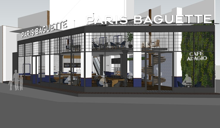 Paris Baugette Lăng Cha Cả:  Gym by Công Ty Cổ Phần Thiết Kế và Xây Dựng Suối Nguồn