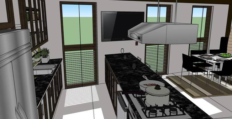 VIVIENDA MULTIFAMILIAR – BARRANCO – LIMA – PERÚ.: Cocinas equipadas de estilo  por juan carlos milla miranda, Moderno Compuestos de madera y plástico