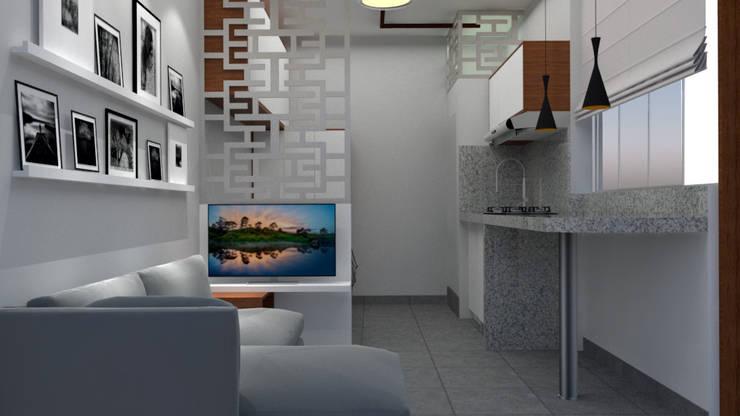 Diseño Dormitorio Estudiante: Dormitorios de estilo  por DIS.OLIVER QUIJANO, Moderno
