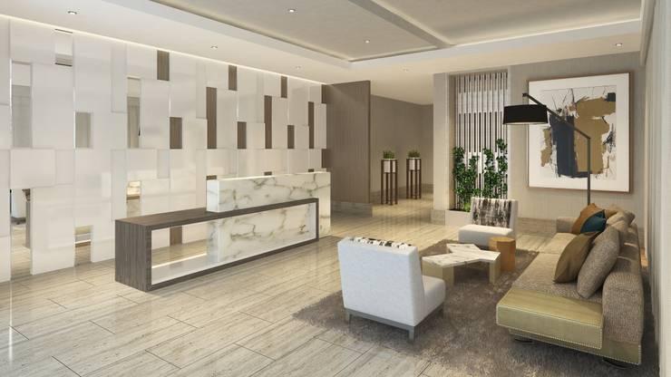Lobby Principal: Salas / recibidores de estilo  por K'ANKA