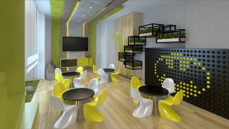 Sala de Niños: Salas de entretenimiento de estilo  por K'ANKA