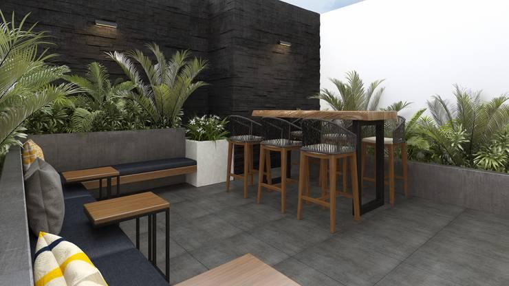 Terraza Co- Working: Terrazas de estilo  por K'ANKA