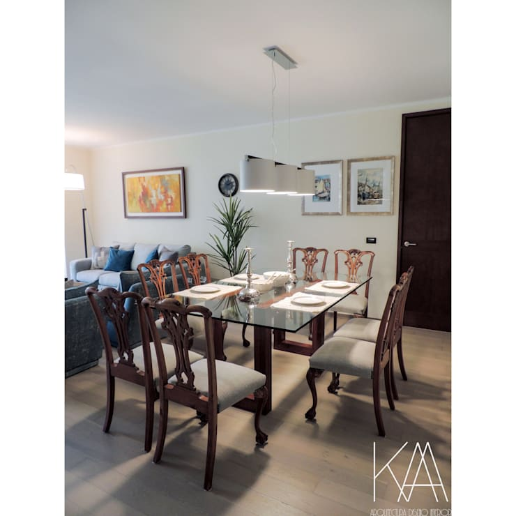 Ruang Makan oleh Kaa Interior | Arquitectura de Interior | Santiago, Klasik Kayu Wood effect