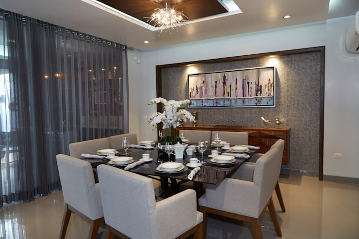 Ruang Makan Modern Oleh arketipo-taller de arquitectura Modern