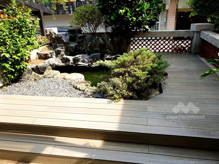 Estanques de jardín de estilo  de 新綠境實業有限公司, Asiático Compuestos de madera y plástico