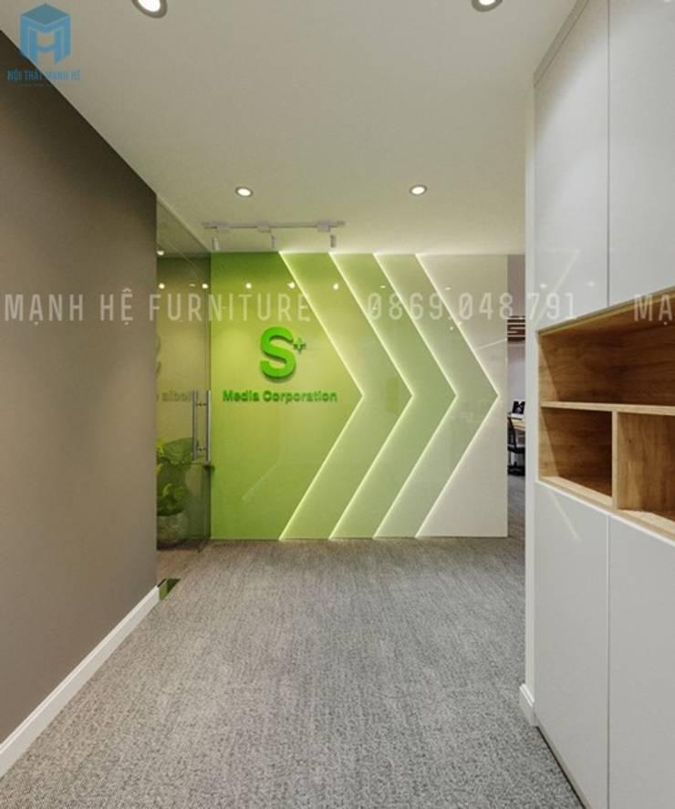 Hành lang văn phòng:  Hành lang by Công ty TNHH Nội Thất Mạnh Hệ