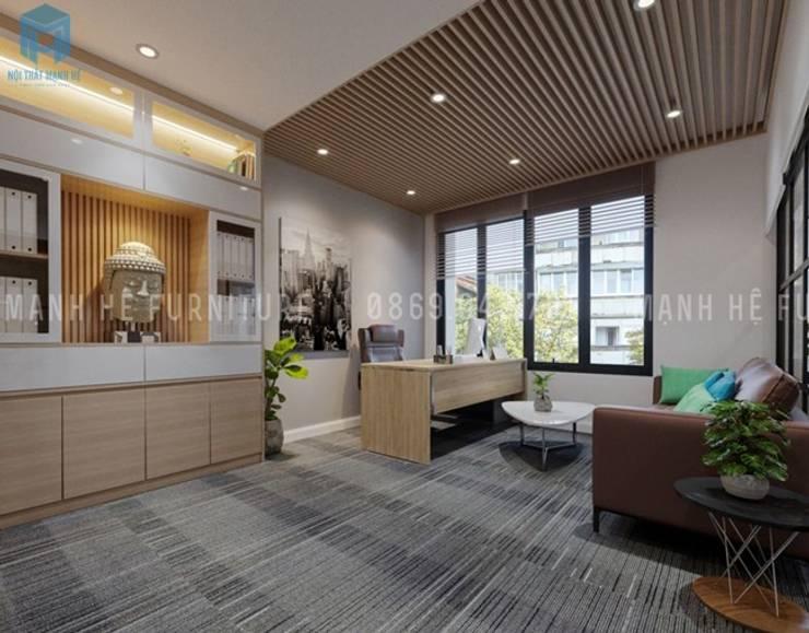 Nội thất phòng lãnh đạo:  Phòng học/Văn phòng by Công ty TNHH Nội Thất Mạnh Hệ