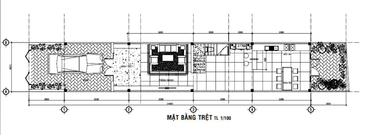 Edificios de oficinas de estilo  por Công ty Thiết Kế Xây Dựng Song Phát