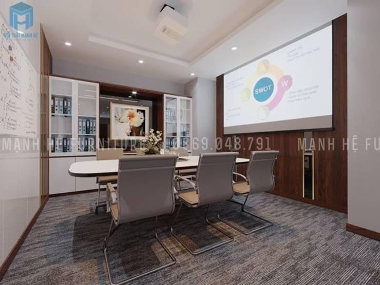 Nội thất phòng họp nhỏ:  Phòng học/Văn phòng by Công ty TNHH Nội Thất Mạnh Hệ