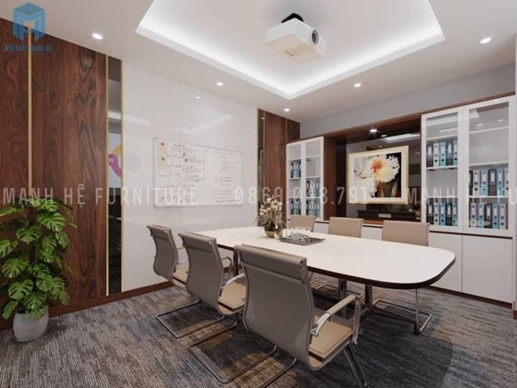 Nội thất phòng họp nhỏ khá hiện đại :  Phòng học/Văn phòng by Công ty TNHH Nội Thất Mạnh Hệ