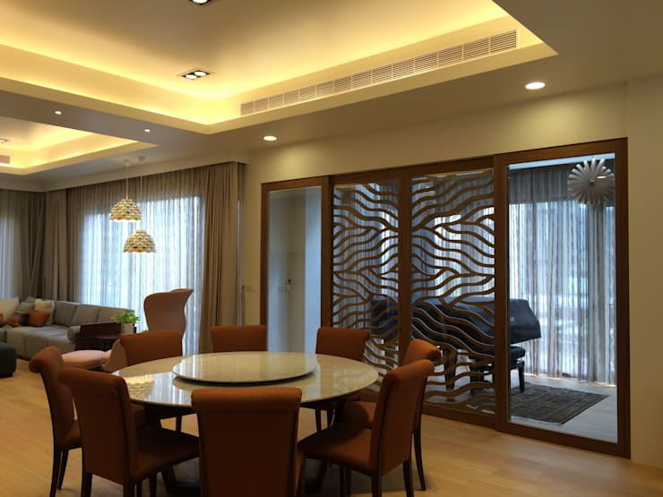 住宅:木:  客廳 by 先勁室內裝修有限公司