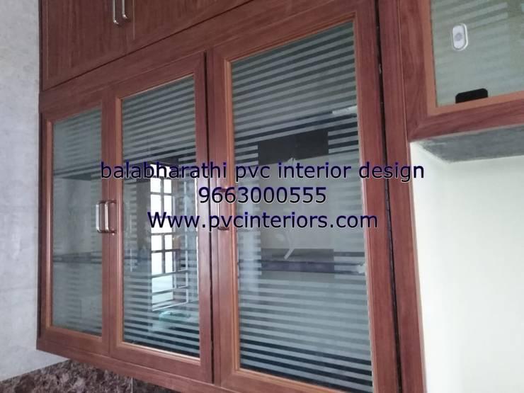 kitchen glass door design 9663000555:  Kitchen by balabharathi pvc interior design