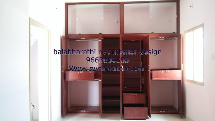 bedroom interior  in trichy 9663000555:  Bedroom by balabharathi pvc interior design