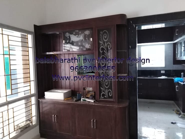 tv showcase in trichy 9663000555:  Multimedia room by balabharathi pvc interior design