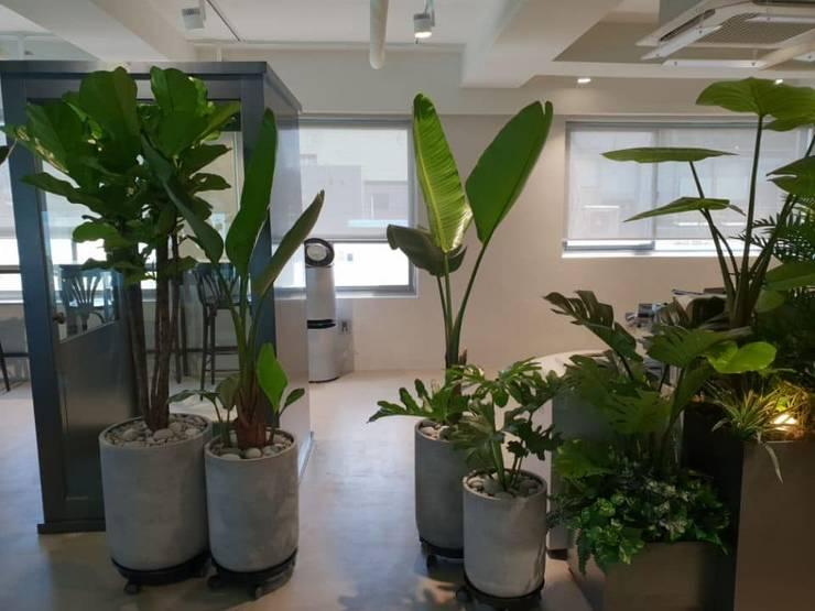 사옥 실내 조경: (주)더숲의  회사
