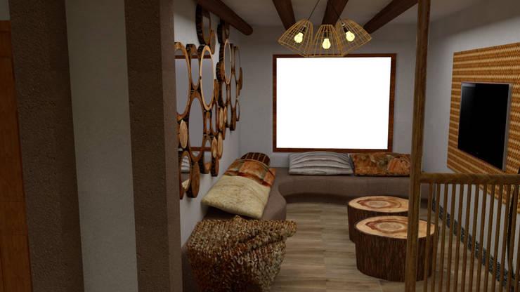 Ingreso y Sala de Espera: Salas / recibidores de estilo  por DIS.OLIVER QUIJANO,