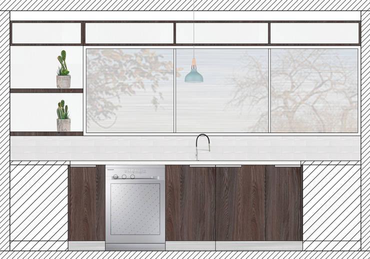 Cocina Machali:  de estilo  por R-Innovare / Diseño de interiores y Arquitectura / Santiago y Viña del mar