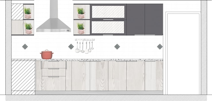 Cocina Bosques de Montemar, Concon:  de estilo  por R-Innovare / Diseño de interiores y Arquitectura / Santiago y Viña del mar