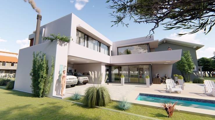Contra Frente 1: Casas de estilo  por Módulo 3 arquitectura,
